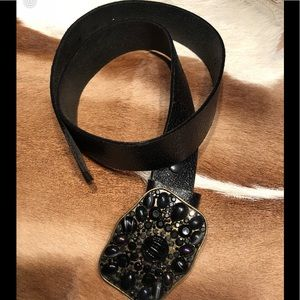 Accessories - Belt Gorgeous Black w/ real high quality stones